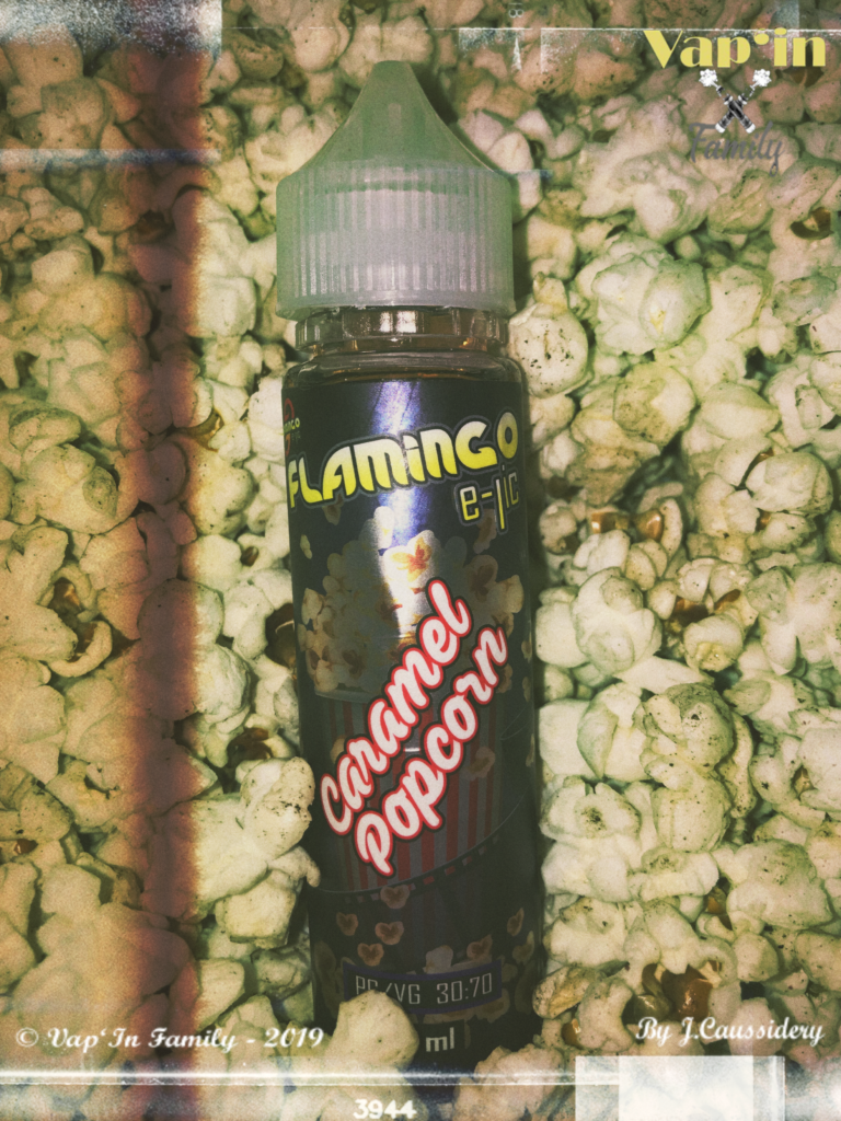 Caramel popcorn - Flamingo - Vap'in family